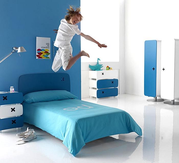 Dormitorios pintura dormitorio dormitorio azul pintura - Pinturas originales para dormitorios ...